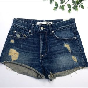 Lovers + Friends Cutoff Distressed Denim Shorts